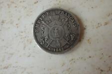 Pièce de 5 Francs Napoléon III En argent 1867