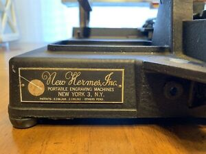 NEW HERMES PORTABLE ENGRAVING MACHINE Serial Number 2238