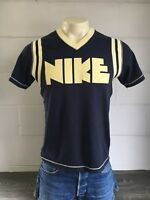 Nike Jersey Shirt Limited Edition Rare Block Letter Vtg Tshirt Swoosh Repro M