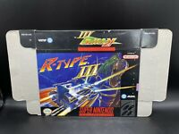 R-Type III 3 Third Lightning (Super Nintendo SNES) Box ONLY No Inserts NO GAME