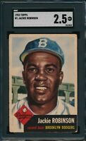 1953 Topps Set Break # 1 Jackie Robinson SGC 2.5 Not PSA *OBGcards*