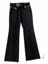 VERTIGO WITH BELT WOMEN'S BLACK PANTS US 8 SIZE NEW W/OUT TAGS MADE IN FRANCE 80