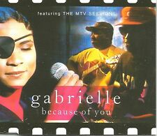 GABRIELLE Because of you w/ 7 INCH version w/ 3 LIVE ACOUSTIC CD single SEALED
