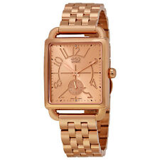 Movado ESQ Origin Women's Rose Gold Tone Swiss Quartz Rectangle Watch 7101409