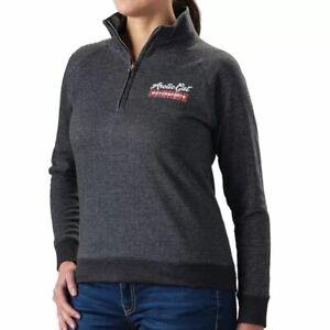Arctic Cat Motorsports Women's 1/4 Zip Gray Sweatshirt Size Large 5263-864
