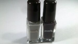 Avon mark Nailed It Trend Mini Nail Lacquers Steel Plum and Industrial (2)pcs