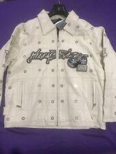 Men's Johnny Blaze Off White Leather Jacket Size XL