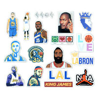 17 pcs NBA Basketball Stars Stickers Kobe King Lebron James Karden Curry KD MJ