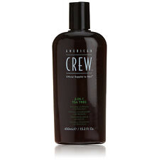 American Crew 3-in-1 Tea Tree , balsamo e Bagno schiuma 450 ml