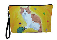 Cat Pouch Wristlet with detachable strap -Yes, Salvador Really Does Paint!!