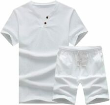 MANTORS Men's Tracksuit Summer 2 Pieces Casual Activewear Short Sleeve Shirt and