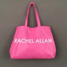 New RACHEL ALLAN Pink Faux Embossed Croc Leather LARGE Tote Bag w/Make Up Bag