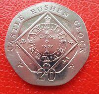 "Isle of Man - ""Rushen Clock"" 20p coins - your choice"
