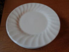 Unboxed White Staffordshire Pottery Side Plates