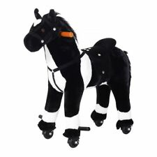 Kids Rocking Horse Ride-On Interactive Plush Battery Operated Galloping Sounds