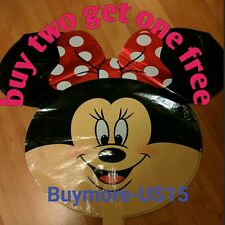Giant Minnie Mouse Disney Happy Birthday Party Balloons Party Foil Red bowtie