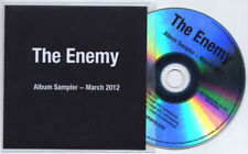 THE ENEMY Streets In The Sky Sampler/Rough Mixes UK numbered 4-trk promo test CD
