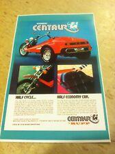 Vintage Rupp Centaur Trike 3 Wheeler Poster Advertisement Man Cave Art Christmas