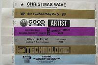 ebay PRINTED/PLAIN Tyvek, paper, Wristbands, birthday, event, party, festival
