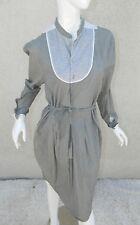 DIESEL Dress Gray Shirt Dress Career Work Wear Size Medium