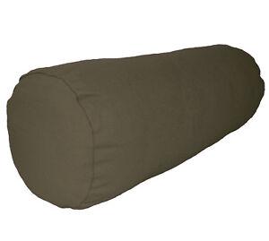 aa200g Army Green Cotton Canvas Fabric Bolster Cushion Cover Yoga Case Custom Si