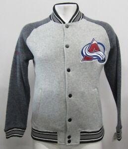 Colorado Avalanche NHL Men's G-III Full Snap Fleece Lined Varsity Jacket Gray L