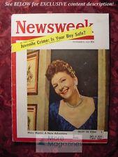 NEWSWEEK Magazine November 9 1953 Nov 12/9/53 MARY MARTIN Kind Sir