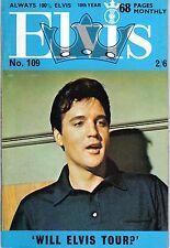 ELVIS 109 ANNEE 1969 (EN ANGLAIS) MYTHIQUE TRES RARE SUPERBES PHOTOS TBE