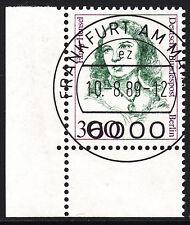 32) Berlin 300 Pf. Frauen  849 Eckrand Ecke 3 E3 EST Frankfurt m Gummi Perfekt