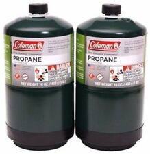 COLEMAN 2Pk Propane Bottle Cylinder 16 oz Camping Stove Gas* Priority Shipping!