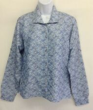 NWT North Face Women's Top Blouse Blue Button Front Shirt Long Sleeve Size M