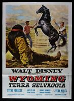 Manifesto Wyoming Terra Salvaje El Wild Country Walt Disney 1971 M68