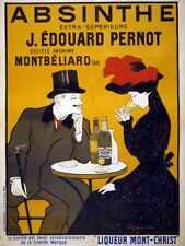 Vintage French Absinthe Pernot Advertisement Retro Metal Wall Plaque Art Sign