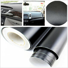 "15""x 39"" Black 3D Leather Textured Car Interior Dashboard Vinyl Decal For Holden"
