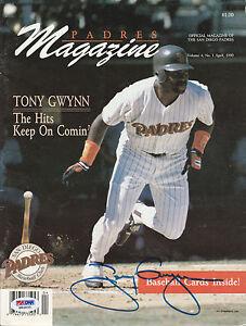 TONY GWYNN SIGNED AUTO'D APRIL 1990 PROGRAM PSA/DNA COA SAN DIEGO PADRES HOF