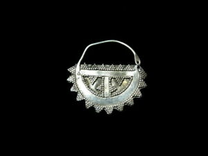 Genuine Antique Tribal Bedouin Silver Nose Ring Saudi Yemen Middle East