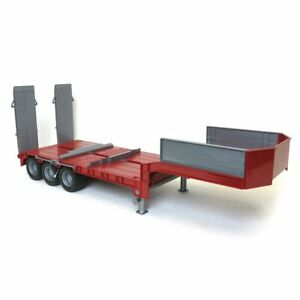 1/16 Red Tri-Axle Low Loader Trailer W/ Ramps 42823