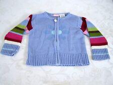 E Kids Blue Striped Long Sleeve Zipper Front Sweater Girls Infant Size 24M