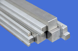 STAINLESS STEEL SQUARE BAR/ROD 10x10mm/8x8mm/6x6mm/4x4mm/3x3mm (in many Lengths)