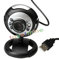 50,0 Megapixel USB 2.0 6 LED Videokamera -Webcam Web Cam Mic für Skype PC