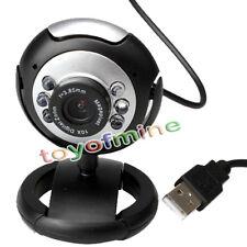 50.0 Mega Pixels USB 2.0 6 LED Video Camera Webcam Web Cam Mic for Skype PC