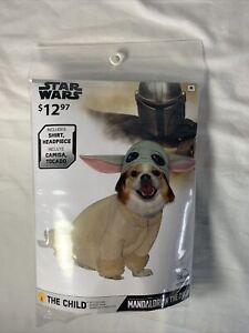 Disney BABY YODA Star Wars The Child Mandalorian Pet Dog Costume - Size Medium