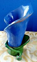 BEAUTIFUL Hand Made Clay Calla-Lily Vase Studio Pottery Unmarked OOAK! L@@K!