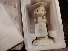 Vintage 1984 Precious Moments Figurine Seek And Ye Shall Find With Box