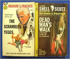 The Scrambled Yeggs & Dead Man's Walk Prather Shell Scott Pulp Fiction Novel Set