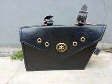 Black color bicycle middle bag bike pouch frame bag handmade for vintage only