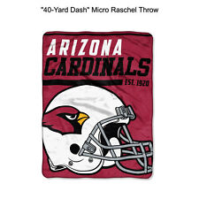 "NFL Arizona Cardinals 40-Yard Dash Micro Raschel Throw Blanket 40"" x 60"""