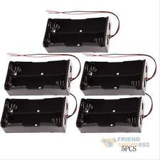 5Pcs Plastic Battery Storage Case Holder for 2x 18650 with Wire Leads Durable
