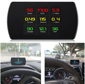 1x Car Digital GPS OBD 2 HUD Driving Computer Head up Display Detector Voltage