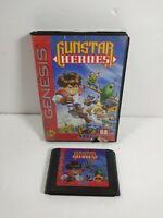 Gunstar Heroes (Sega Genesis, 1993)  Game and Case